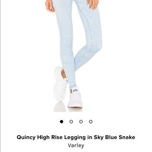 cdab66e2cf6015 Varley Pants | Quincy Legging In Sky Blue Snake Size Small | Poshmark